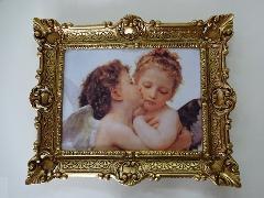 イタリアの天使の絵 額絵 ゴールド