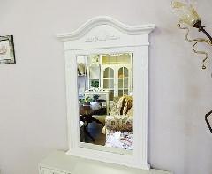 白家具 ホワイトミラー 鏡 白いミラー 822S