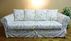 現品特価 ソファー 輸入 3人掛け 花柄 0804SFS カバーリングソファ