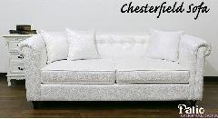 【処分特価】 アウトレット ソファー、3人掛け 布製 白いソファ 119D-7