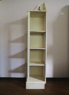 輸入白家具 コーナー飾り棚 1200L
