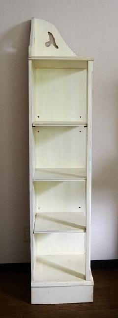 輸入白家具 コーナー飾り棚 1200R