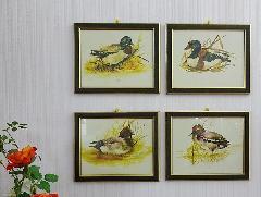 イタリア製 輸入小物 壁掛け用額絵4枚セット 192911