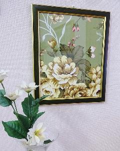 額絵 布絵 花の額絵 BZ-F1