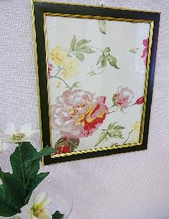 額絵 布絵 花の額絵 BZ-F2