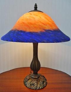 テーブルランプ 卓上ランプ 照明 スタンド アンティーク ガラスシェード008I