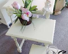 処分特価  ホワイトテーブル 花台 スモールベンチ 818Mサイズ