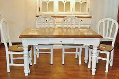 展示現品売り尽くしセール カントリー 白家具 ダイニングセット 5点セット132.199-I