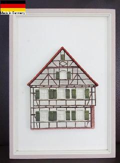 ドイツ製 セラミックフレーム 額絵 アート ウォールデコ 4203
