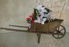 置物 オブジェ  真鍮の一輪車 3414