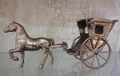 置物 オブジェ  真鍮の馬車 84302