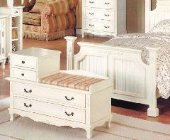 お買い得品 白家具のテレホンベンチ 858