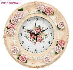 おしゃれな薔薇の壁掛け時計 インテリア時計   M4619