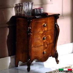 処分特価  イタリア家具 猫脚 3段チェスト 5406
