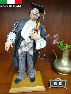イタリア工芸品 紙人形 アンティーク輸入雑貨 BL-1