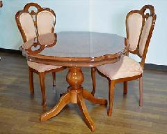 輸入家具 ティーテーブル3点セット、テーブル×1 チェアー×2 イタリア/サルタレッリ社製 フローレンス DT-36 /W、DC-F40/W布