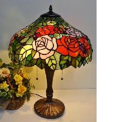 ランプ  ステンドガラスのテーブルランプ TL017