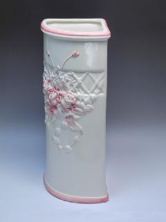 ポルトガル製 白い傘立 陶器の傘立て 7009A