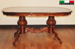 【展示現品売り尽くしセール】イタリア製 象嵌 ダイニングテーブル940