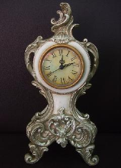 アンティーク レトロな置き時計 デスククロック 7702
