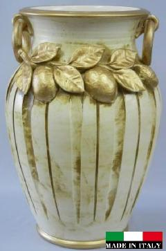 イタリア製 陶器の傘立て 25045