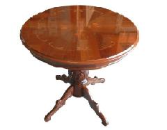 イタリア ダイニングテーブル  80cm丸型 艶有り