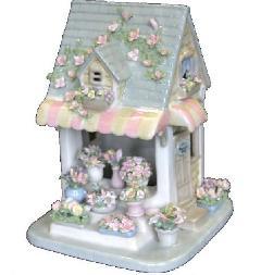 オルゴール 陶器 リアドロ風 フラワーショップ お花 結婚お祝い 贈り物 プレゼント 80816
