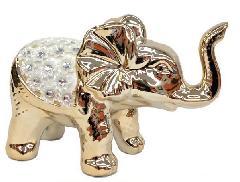 陶器置物 像の置物 置物 像 プレゼント 贈り物 ギフト ゴールド 豪華 縁起物 贈答品 12721
