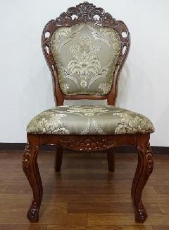 ダイニングチェア 椅子 食卓椅子 猫足家具 アンティーク クラシック家具 茶色 668/W