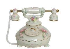 オルゴール 陶器 リアドロ風 電話 結婚お祝い 贈り物 プレゼント 81809
