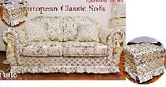 【処分特価】 高級ソファー2人掛けソファー、オットマン付き アウトレット 527A