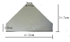 強化ガラス板 台形 BZ-120.1