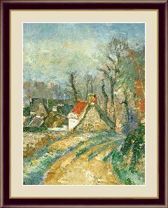 絵 絵画 額絵 オーヴェルの曲がり道  世界の名画 セザンヌ  G4-BM063