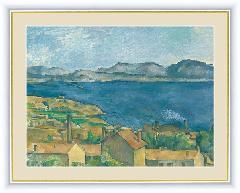 絵 絵画 額絵 エスタックから見たマルセイユ湾  世界の名画 セザンヌ  G4-BM064