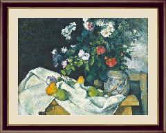 絵 絵画 額絵 と果物のある静物  世界の名画 セザンヌ  G4-BM065