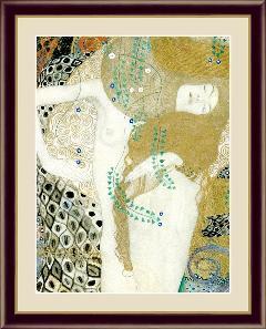 絵 絵画 額絵  水蛇I 世界の名画 クリムト  G4-BM071