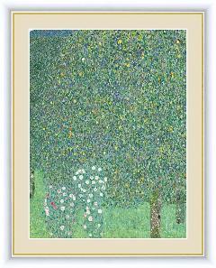 絵 絵画 額絵 木々の下の薔薇 世界の名画 クリムト  G4-BM075