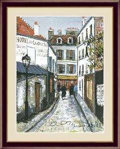 絵 絵画 額絵 ヴィルの通り 世界の名画 ユトリロ  G4-BM080