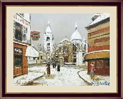 絵 額絵 絵画 モンマルトルのサン=ピェール教会とサクレ=クール寺院 世界の名画 ユトリロ  G4-BM082