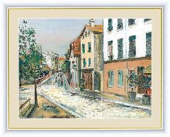 絵 絵画 額絵 パリ13区 世界の名画 ユトリロ  G4-BM084