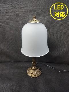 テーブルランプ ガラスシェード 照明 卓上ランプ トールペイント LED対応 012C