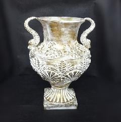 アンティーク風花器 花瓶 陶器 フラワーベース 白 おしゃれ。 生花や造花と合わせて、アンティーク調の可愛い陶器のフラワーベースF232