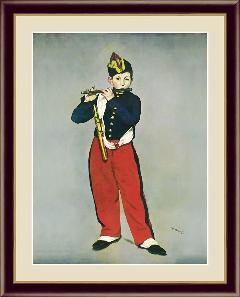 笛を吹く少年  マネ G4-BM040