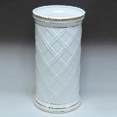 白い陶器の傘立て 5409WG
