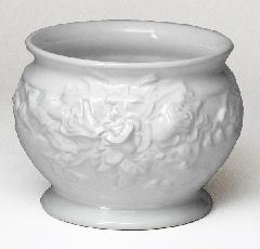 ポルトガル製陶器のプランター 植木鉢 穴あき 鉢カバー 白 ホワイト 7002−2W