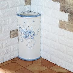 ポルトガル製、陶器の傘立て コーナー傘立て ブルー 青7009A-BL