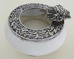 イタリア製 アンティークトレー 灰皿 ポプリポット陶器 おしゃれ かわいい アウトレット 2105