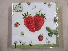 ポルトガル製 おしゃれなペーパーナフキン 紙ナフキン イチゴ いちご 苺 かわいい 330