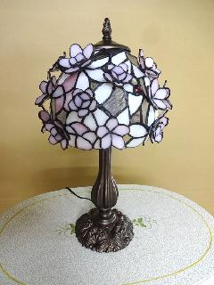 ピンクのランプ テーブルランプ アンティークランプ LED電球対応 008