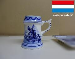 オランダ製おしゃれな陶器カップ タンプラー小物入れ シュガー入れ ペン立て マルチフォルダー 陶器 インテリア 置物 B8
